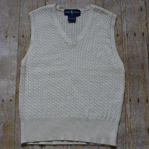 Ralph Lauren Cable Knit Sweater Vest NWOT